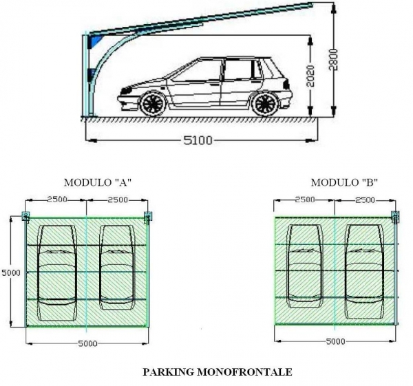 Vendita e distribuzione cover car cover car for Una dimensione del garage per auto