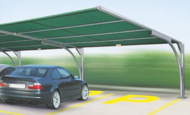 Vendita e distribuzione coperture per parcheggi for Kit per posto auto coperto